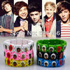Wholesale 120pc/lot HOT NEW 1D I Love One Direction Super Star Wood Stretch Bracelets Mixed 6 Colors Party Gift Fashion Jewelry