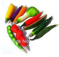 Freeshipping 10pcs/lot hotsale creative fruit &vegetale shape design ball point pen with frigde magnet gift pen promotional pen