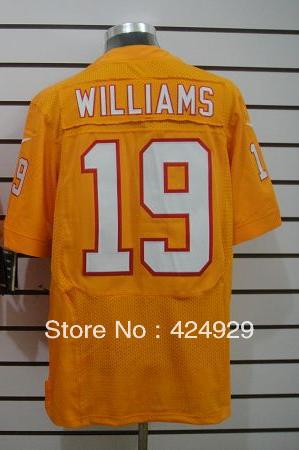 Free shipping! Cheap Men's Tampa Bay #19 Williams Orange Colors American Football Elite Jerseys(China (Mainland))