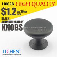 LICHEN H002B Black Furniture Knobs