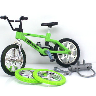 Children baby alloy bicycle model toys children 's finger cycling send two wheels Tools Special(China (Mainland))