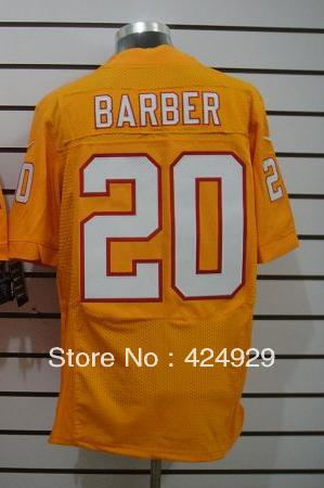 Free shipping! Cheap Men's Tampa Bay #20 Barber Orange Colors American Football Elite Jerseys(China (Mainland))
