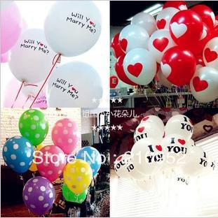 Wholesale - Free shipping Valentine wedding decoration 12-inch thick balloon