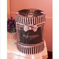 Garbage bucket bow oxford fabric laundry basket toy home storage clothing basket storage