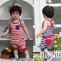 0-1 year old baby boy summer baby clothes children's clothing 6 baby's wear child set