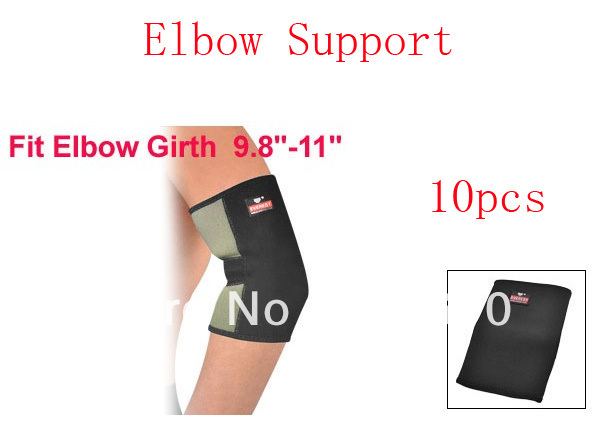 Black Elastic Sports Protective Neoprene Elbow Support Sleeve Brace 10pcs(China (Mainland))