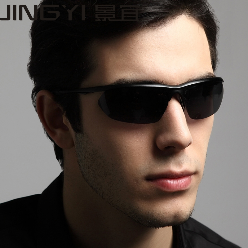 King should be authentic men's polarized sunglasses aluminum-magnesium alloy sunglasses driving mirror driver mirror car essenti(China (Mainland))