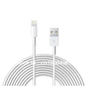 3M USB Cable for iPhone 5 USB 2.0 Cord Data Cable Sync 8 PIN Charger Adapter 10pcs/lot free shipping(China (Mainland))