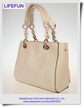 2013 new women GENUINE REAL LEATHER snakeskin Serpentine Messenger bag tote bag Shoulder bag handbag LF06240
