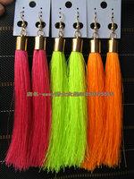 Fashion female singer costumes neon ultra long tassel earrings 2ne1 star fashion personality