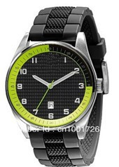 The latest Sport Collection Silicone Strap Black Dial Men&#39;s Watch - AR5877 +wholesale!(China (Mainland))