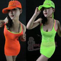 Hiphop hip-hop hiphop neon basic vest Iotion big jazz ds costume 2ne1 neon