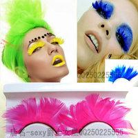 Hot dsl twirled service female singer feather costumes personality false eyelashes