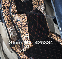 Free Shipping Fashion New Leopard car pillow support lumbar car Cushion Soft Touch Cushion