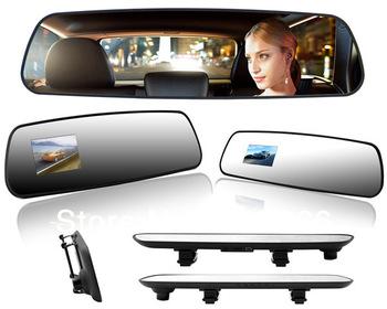"Free shipping!2013 Newest Super slim car rearview mirror DVR ,2.7"" TFT LCD H.264 car black box DV400"