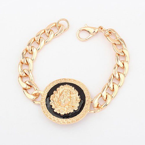 Fashion personality bracelet vintage round toe alloy lion head bracelet trend all-match magazine female bracelet(China (Mainland))