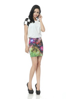 2013 Sexy Tight Women Galaxy Space Star Mini Skirt,Mini Pencil Skirt,Bee Fashion Printing Half-length Skirt DQ003 Wholesale