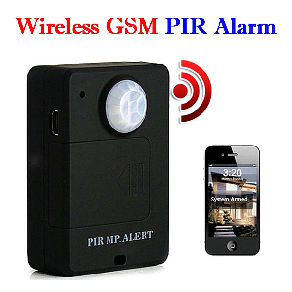 Wireless PIR Sensor Motion Detector GSM Alarm System Alert Monitor Remote Control+GSM Quad Band SIM Card(China (Mainland))