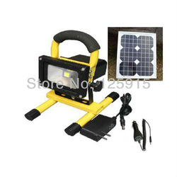 N IP65 10W warm white LED solar hand Multifunction Charger Spotlights,For car camping lighting, emergency lighting(China (Mainland))