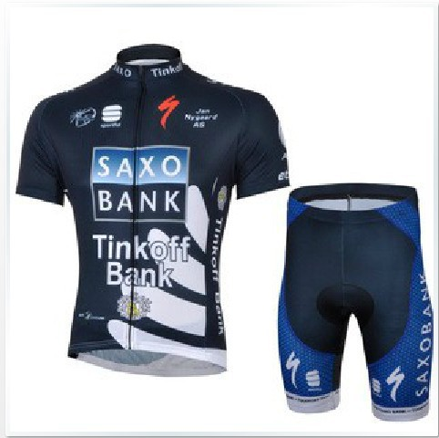 High Quality 2013 cycling jersey saxobank men&#39;s bike clothing kits(China (Mainland))