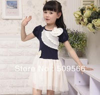 Free Shipping!!The summer ladies mixed colors flower child dress princess dress