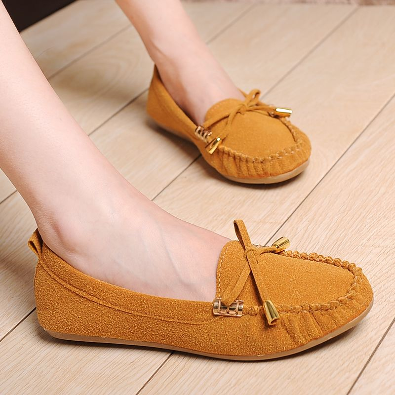 2013 spring the trend of fashion bow comfortable flat massage bottom women&#39;s shoes gommini loafers(China (Mainland))