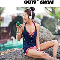 Hot springs bikini three piece set swimwear female small steel push up swimwear