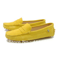 china post air fashion Women's Peas driving slip-on Loafers lady flat shoes F960-3 100%Authentic leather Pink 7 colors