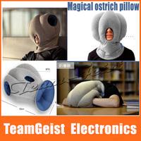 2014 Novelty Ostrich pillow travel Nap pillow neck guard health sleeping pillow for Office snooze Silk Filled Pillow