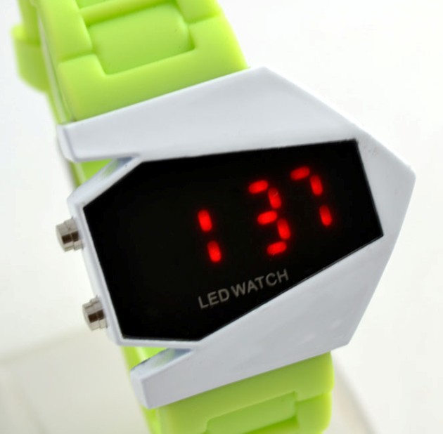 2013 KOWS0002 LED watches Plane Digital watch Blue Light Bomb Watch Stainless steel Back Silicone Unisex free shipping(China (Mainland))