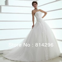 Free     shipping     The new 2013 han edition lace trailing wedding dress