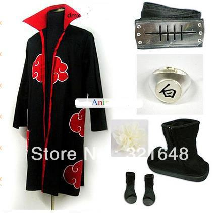Naruto Akatsuki Member Konan Cosplay Costume set ,Best Gift for Cosplay Fans(China (Mainland))