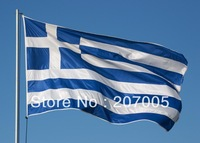 Free Shipping Greece Flag NEW 100% Polyester  3x5 ft Flag of  Greece 90x 150cm Greek National Flag