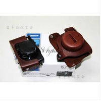FREE SHIPPING Genuine Cow Leather Camera Case Bag Cover For Olympus XZ2 XZ-2 + Leather Strap