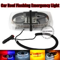 Free Shipping Auto Emergency Police Warning 240 LEDs bar Strobe Flash modes Light  Magnetic Base DC 12V  Amber White Bule Red
