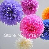 """8"""" 20cm tissue paper flower balls pom poms wedding party fetival decoration 20colors"""