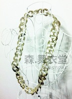 Hiphop ds hiphop punk overstretches gold neon color necklace