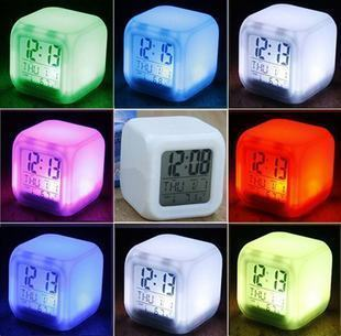 Colorful color mood alarm clock large thermometer calendar colorful alarm clock decompression alarm clock(China (Mainland))