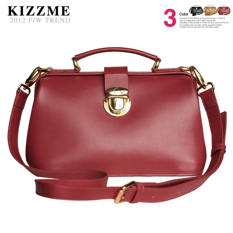 Kizzme fashion cowhide bags vintage brief handbag one shoulder women&#39;s handbag(China (Mainland))