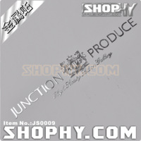 Car stickers js0009 metal stickers chrome silver vip - qc junction