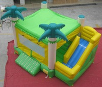 inflatable jungle bounce with side combo