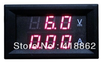 DC 4.5-30V 0-10A Dual LED Digital Volt meter Ammeter Voltage AMP Power F 12v car free shipping(China (Mainland))