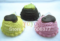 Wholesale!! NEW Snoopy Ice Cream Scoop Squishy Charm/Key Chain /Free Shipping
