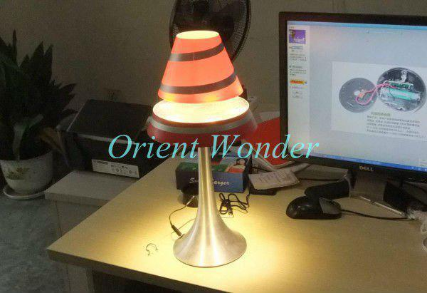 Novel LED table lamp Floating inductive light Electromagnetic levitation light new arrival Freeshipp(China (Mainland))