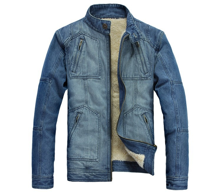 HHoliday Sale slim collar men&#39;s denim jacket warm jeans winter jacket men with velvet Size :M/L/XL/XXL(China (Mainland))