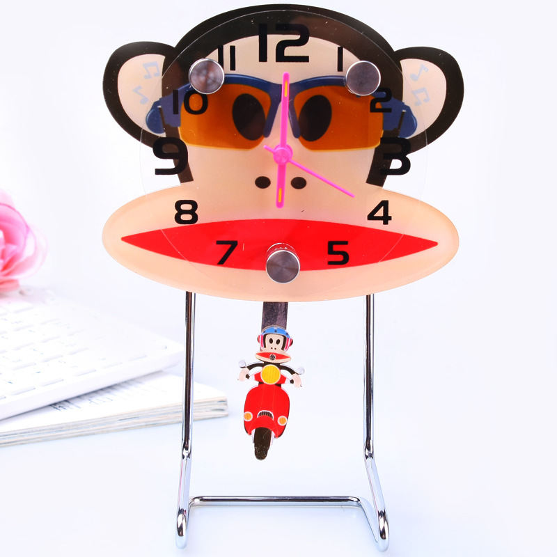 Supply cartoon swing table clock table clock watch wholesale cartoon table clock manufacturers, wholesale gifts wholesale 158047(China (Mainland))
