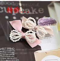 Whloesale (30 Pcs/Lot) Peals Women Butterfly Hairpins Hairstick Hair Clip HJ03 Free Shipping
