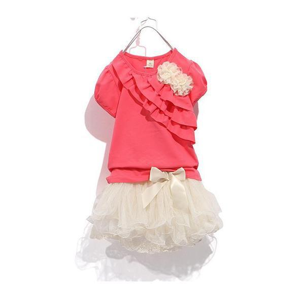 Free shipping the new 2013 child dress girl suit children dress lace detonation product summer dress(China (Mainland))