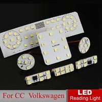 Car LED Reading Light for CC Volkswagen Auto Interior Rooflight Full Set LED Dome lamps Interior Lighting Fast HK Post