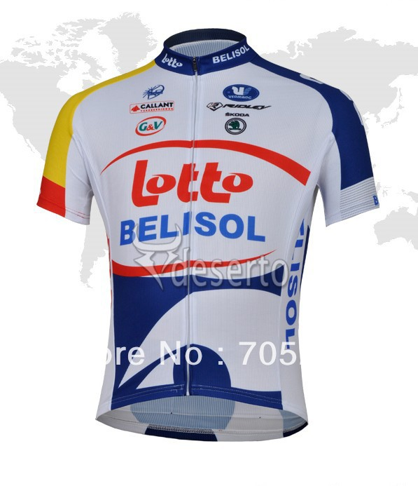 Free Shipping!2013 LOTTO Cycling Jersey Short Sleeve Only Cycling Clothing Cycling Team Sports(China (Mainland))